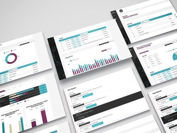 Screens of data